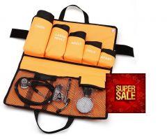 Kit Tensiomètre manuel de base type palm kit kit 5* brassards, Qualité Supérieure (y compris stéthoscope, lampe style, marteau à reflexe ) ST-A81S-SET