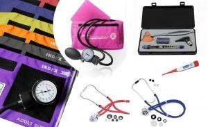 Offre combinable; tensiomètre, stéthoscope à double tubulure, lampe-stylo, otoscope, marteau à réflexe ST-A108
