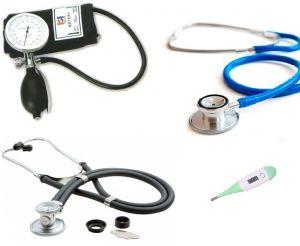 Offre combinable; tensiomètre de type palme, stéthoscope à double tubulure et  double stéthoscope la base ST-A214