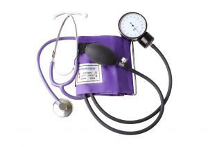 Kit Tensiomètre manuel de base (y compris stéthoscope) ST-H036-(LILAS)