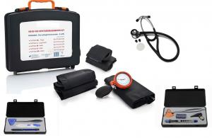 Kit Tensiomètre manuel de base type palm, 5* brassards (y compris stéthoscope de qualité)  ST-T32X-SET